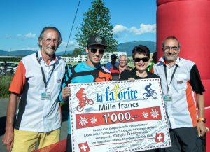 20160703 de gauche à droite Raymond Brilland ,romain Tanniger et Valérie Jaggi-Wwepf municipale d,Yverdon et Rénato Lauria